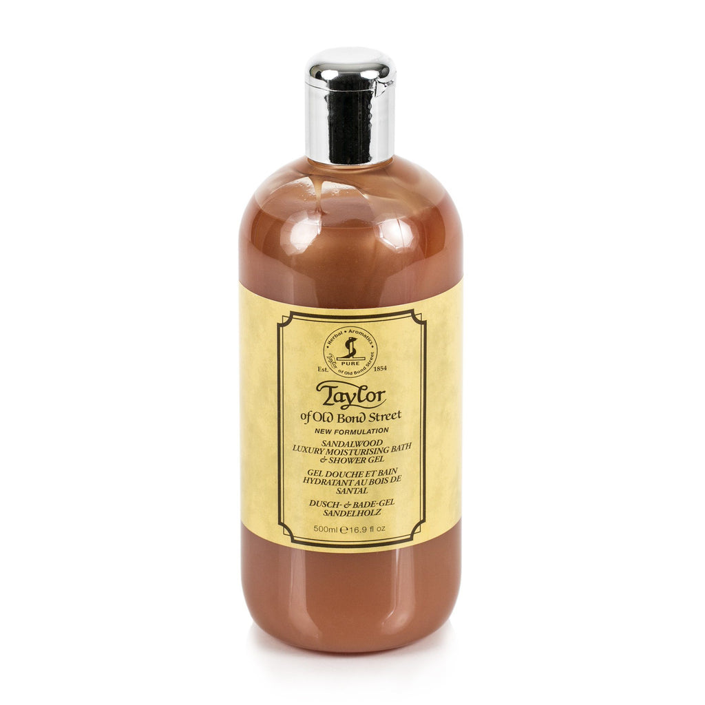 Taylor of Old Bond Street Sandalwood Moisturizing Bath and Shower Gel, 500 ml Men's Grooming Cream Taylor of Old Bond Street