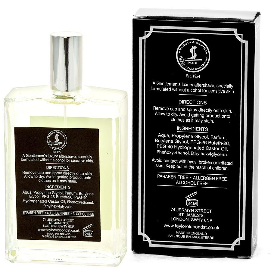 Taylor of Old Bond Street Jermyn Street for Sensitive Skin Alcohol-Free Luxury Aftershave Aftershave Splash Taylor of Old Bond Street