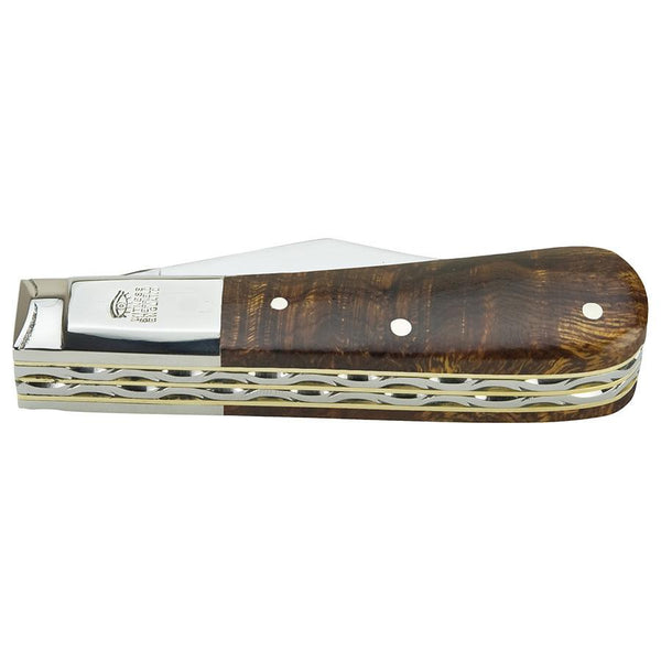Taylor's Eye Witness Premier Collection Twin Blade Barlow Pocket Knife, Ironwood - Fendrihan - 2