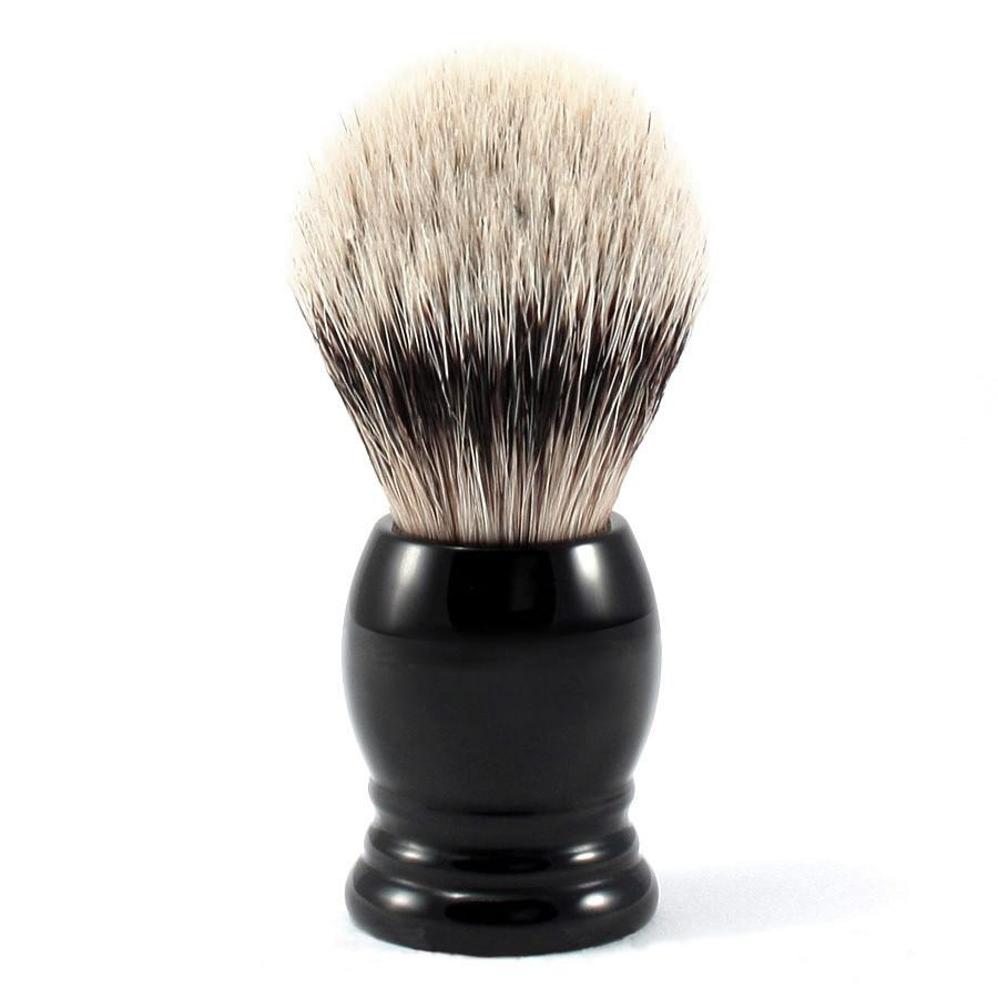H.L. Thater 4292 Series Silvertip Shaving Brush with Black Handle, Size 1 Badger Bristles Shaving Brush Heinrich L. Thater