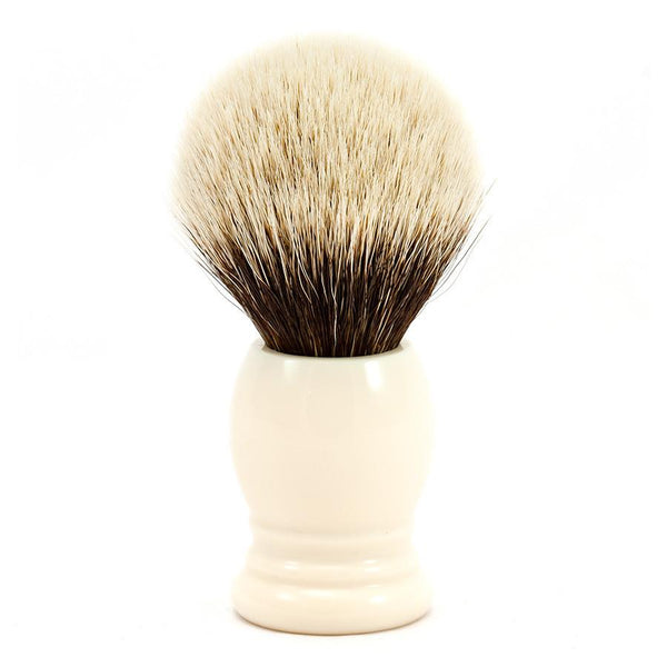H.L. Thater 4292 Series 2-Band Silvertip Shaving Brush with Faux Ivory Handle, Size 5 - Fendrihan - 1