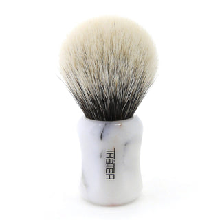 H.L. Thater 4125 Limited Edition 2-Band Premium Bulb Silvertip Shaving Brush, Size 2 Badger Bristles Shaving Brush Heinrich L. Thater Bianco Lasa