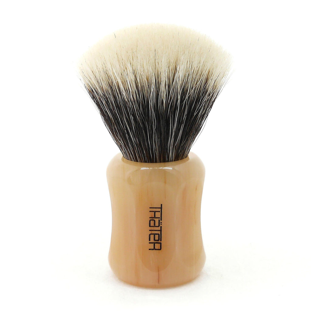 H.L. Thater 4125 Limited Edition 2-Band Fan-Shaped Silvertip Shaving Brush, Size 2 Badger Bristles Shaving Brush Heinrich L. Thater Estremoz Classico