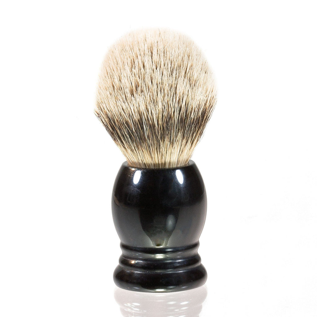 H.L. Thater 4292 Series Silvertip Shaving Brush with Black Handle, Size 2 Badger Bristles Shaving Brush Heinrich L. Thater