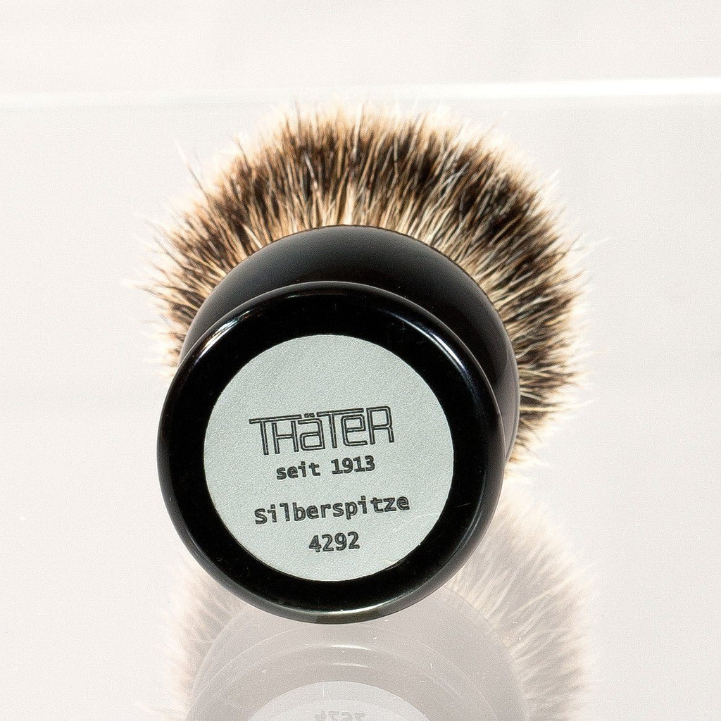 H.L. Thater 4292 Series Silvertip Shaving Brush with Black Handle, Size 3 Badger Bristles Shaving Brush Heinrich L. Thater