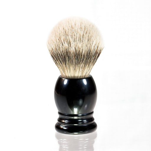 H.L. Thater 4292 Series Silvertip Shaving Brush with Black Handle, Size 3 - Fendrihan - 1