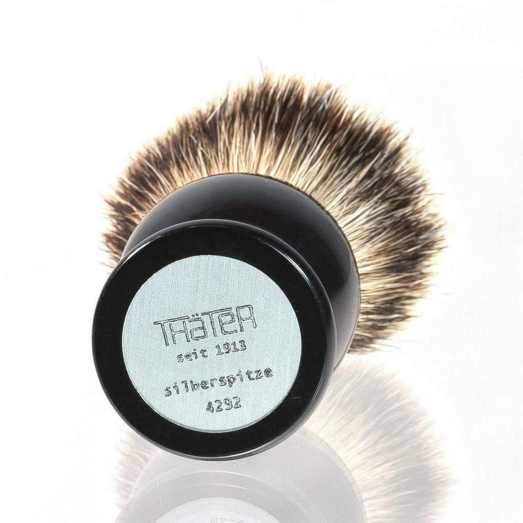 H.L. Thater 4292 Series Silvertip Shaving Brush with Black Handle, Size 4 Badger Bristles Shaving Brush Heinrich L. Thater