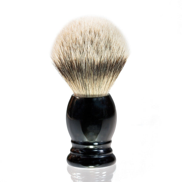 H.L. Thater 4292 Series Silvertip Shaving Brush with Black Handle, Size 4 - Fendrihan - 1