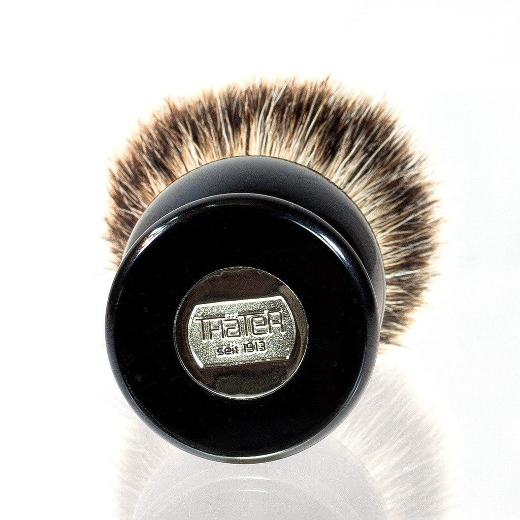 H L Thater 4292 Series Silvertip Shaving Brush With Black
