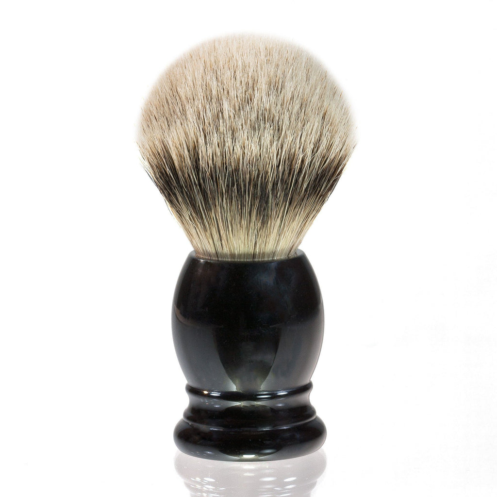 H.L. Thater 4292 Series Silvertip Shaving Brush with Black Handle, Size 5 Badger Bristles Shaving Brush Heinrich L. Thater