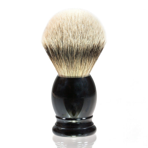H.L. Thater 4292 Series Silvertip Shaving Brush with Black Handle, Size 6 - Fendrihan - 1