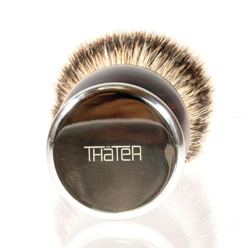 H.L. Thater 4292 Precious Woods Series Silvertip Shaving Brush with Ebony Handle, Size 4 Badger Bristles Shaving Brush Heinrich L. Thater