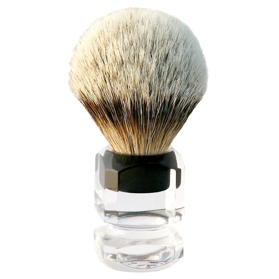 H.L. Thater 4376 Series Silvertip Shaving Brush with Two-Tone Handle, Size 4 Badger Bristles Shaving Brush Heinrich L. Thater