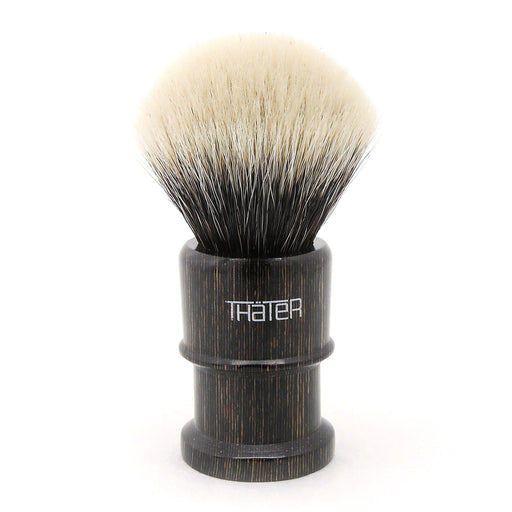 H.L. Thater 4650 Limited Edition 2-Band Fan-Rounded Silvertip Shaving Brush, Size 2