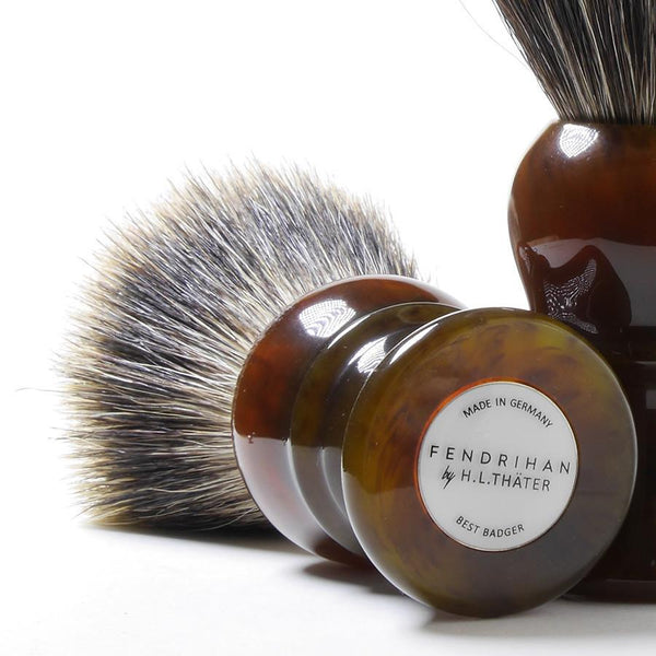 H.L. Thater for Fendrihan Best Badger Shaving Brush with Faux Tortoise Handle, Size 4 - Fendrihan - 2