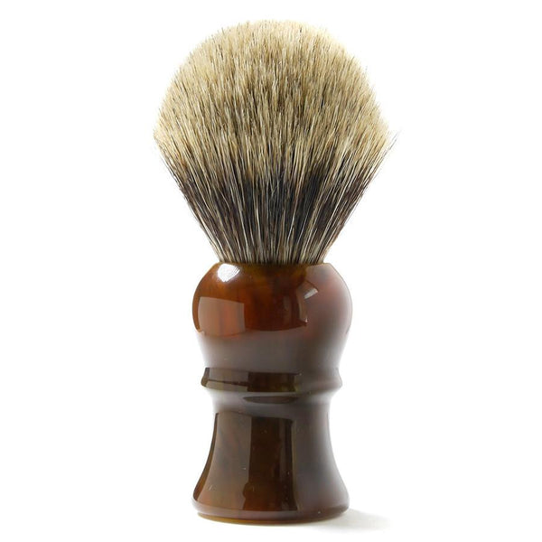 H.L. Thater for Fendrihan Best Badger Shaving Brush with Faux Tortoise Handle, Size 4 - Fendrihan - 1