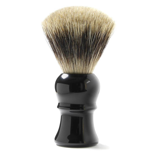 H.L. Thater for Fendrihan Fan-Shaped Best Badger Shaving Brush with Black Handle, Size 4 - Fendrihan - 1