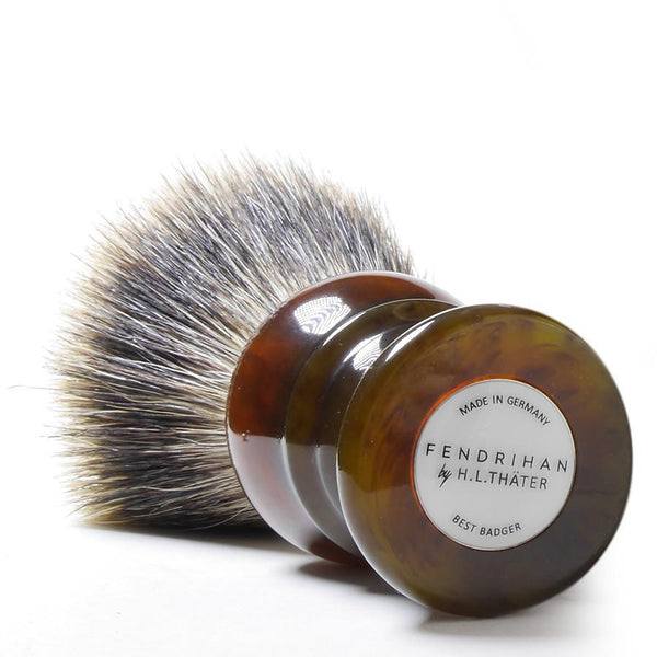H.L. Thater for Fendrihan Fan-Shaped Best Badger Shaving Brush with Faux Tortoise Handle, Size 4 - Fendrihan - 2