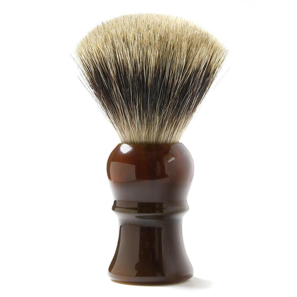 H.L. Thater for Fendrihan Fan-Shaped Best Badger Shaving Brush with Faux Tortoise Handle, Size 4 - Fendrihan - 1