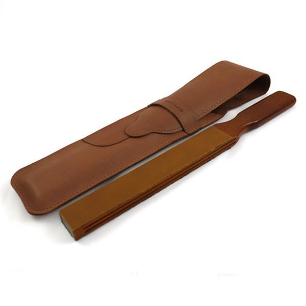 Thiers Issard Paddle Strop w Brown Baragnia Leather Case - Fendrihan - 2
