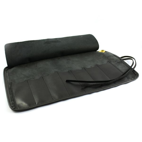 Thiers Issard Seven-Razor Black Leather Carrying Case Grooming Travel Case Thiers Issard