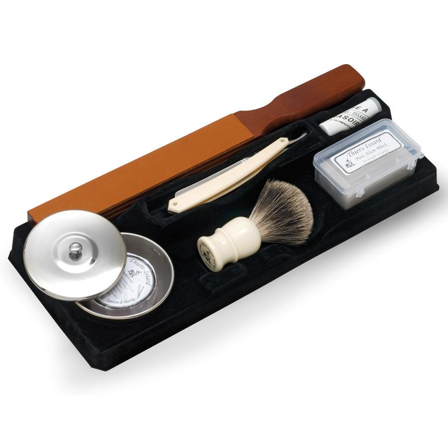 Thiers Issard Complete Straight Razor Kit White, Save $35 Shaving Kit Discontinued