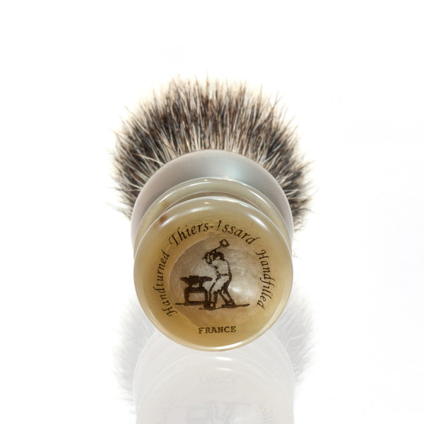 Thiers Issard Silvertip Badger Shaving Brush, Blonde Horn Handle - Fendrihan - 2