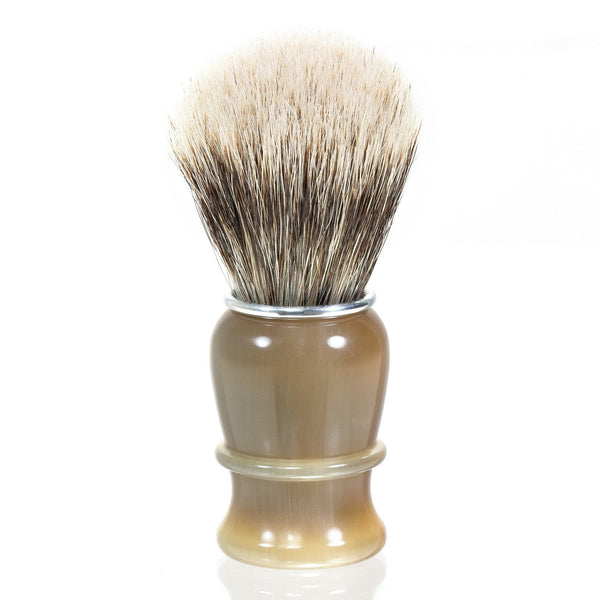 Thiers Issard Silvertip Badger Shaving Brush, Blonde Horn Handle - Fendrihan - 1