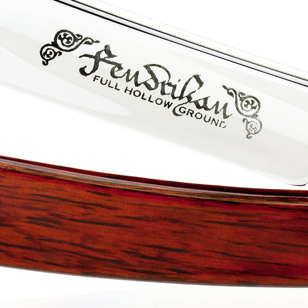 "Fendrihan Thiers Issard Full Hollow Ground Straight Razor 6/8"", Red Stamina Handle - Fendrihan - 3"