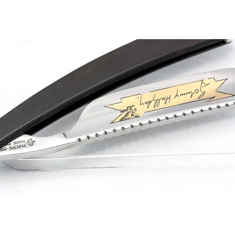 "Thiers Issard Limited Edition Johnny Hallyday Straight Razor 6/8"", Ebony Wood Handle Limited Editions Straight Razor Thiers Issard"