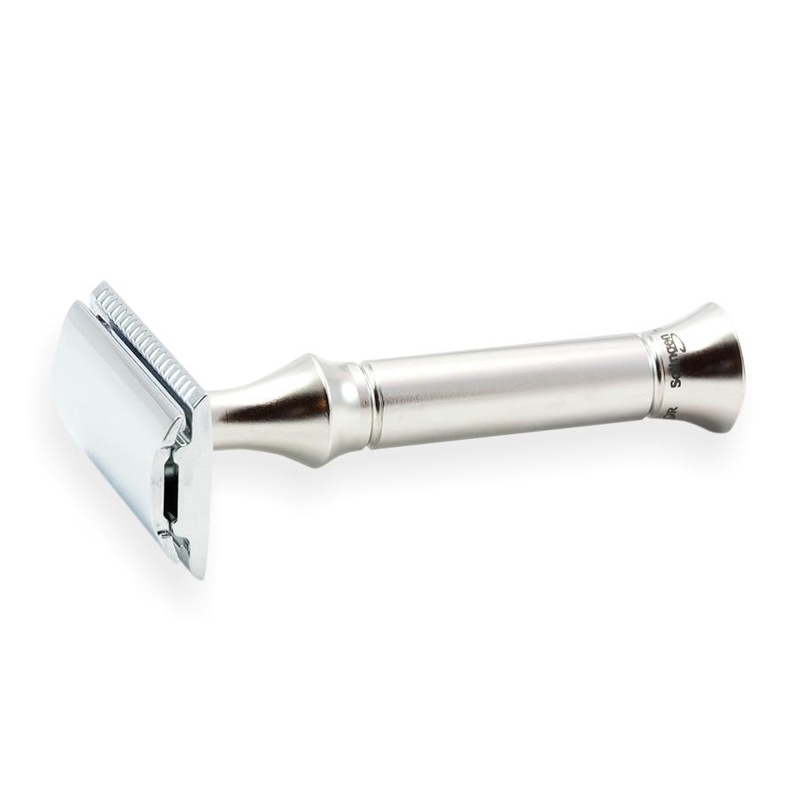 Timor 1351 Closed Comb Safety Razor with Solid Stainless Steel Handle Double Edge Safety Razor Timor