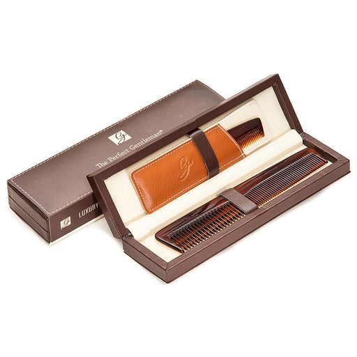 The Perfect Gentleman Luxury Comb Set in Deluxe Leather Case - Fendrihan - 1