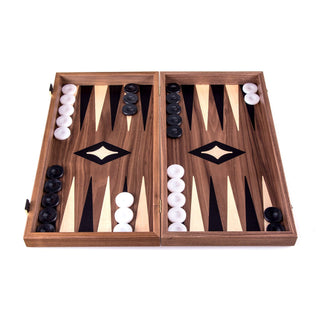 Manopoulos Handmade Walnut Chess and Backgammon Set Board Game Manopoulos