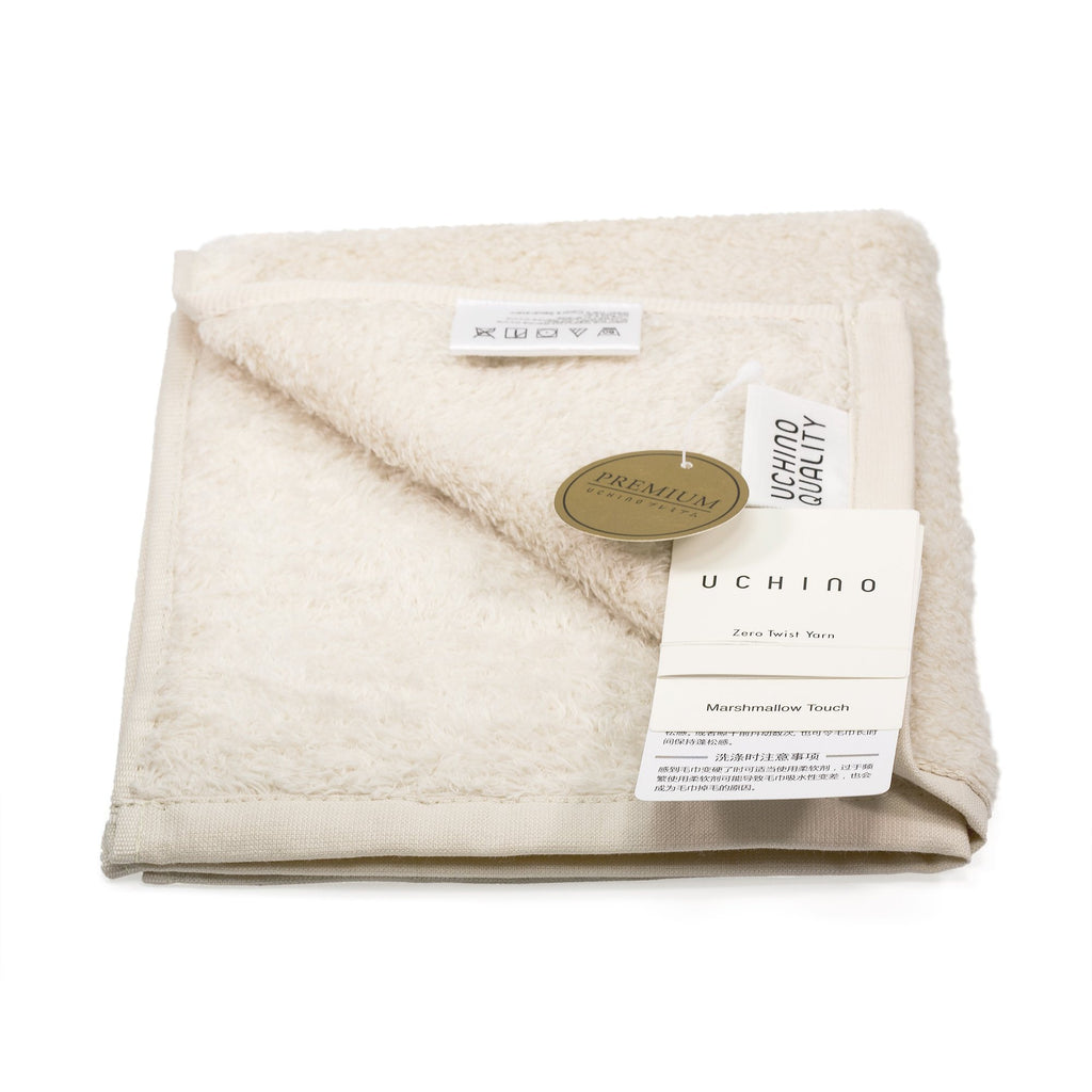 Uchino Premium Marshmallow Touch Zero Twist Yarn Face Towel Towel Uchino Cream