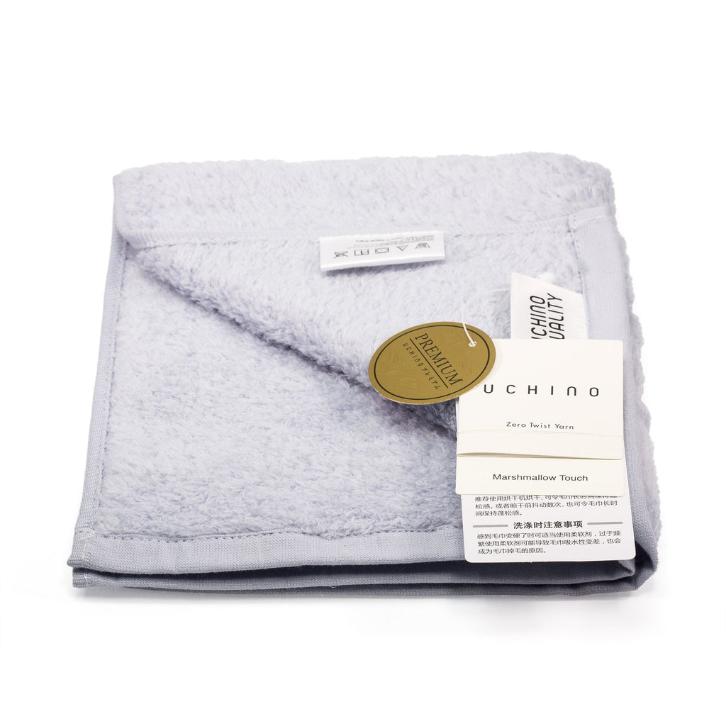 Uchino Premium Marshmallow Touch Zero Twist Yarn Face Towel Towel Uchino Blue