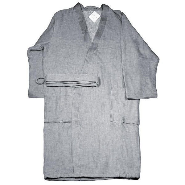 Uchino Kishu Charcoal Odour-Eliminating Cotton Gauze Bath Robe - Fendrihan - 3