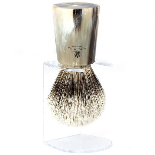 Vie-Long Silvertip Badger Hair Shaving Brush, Natural Horn Handle - Fendrihan - 1