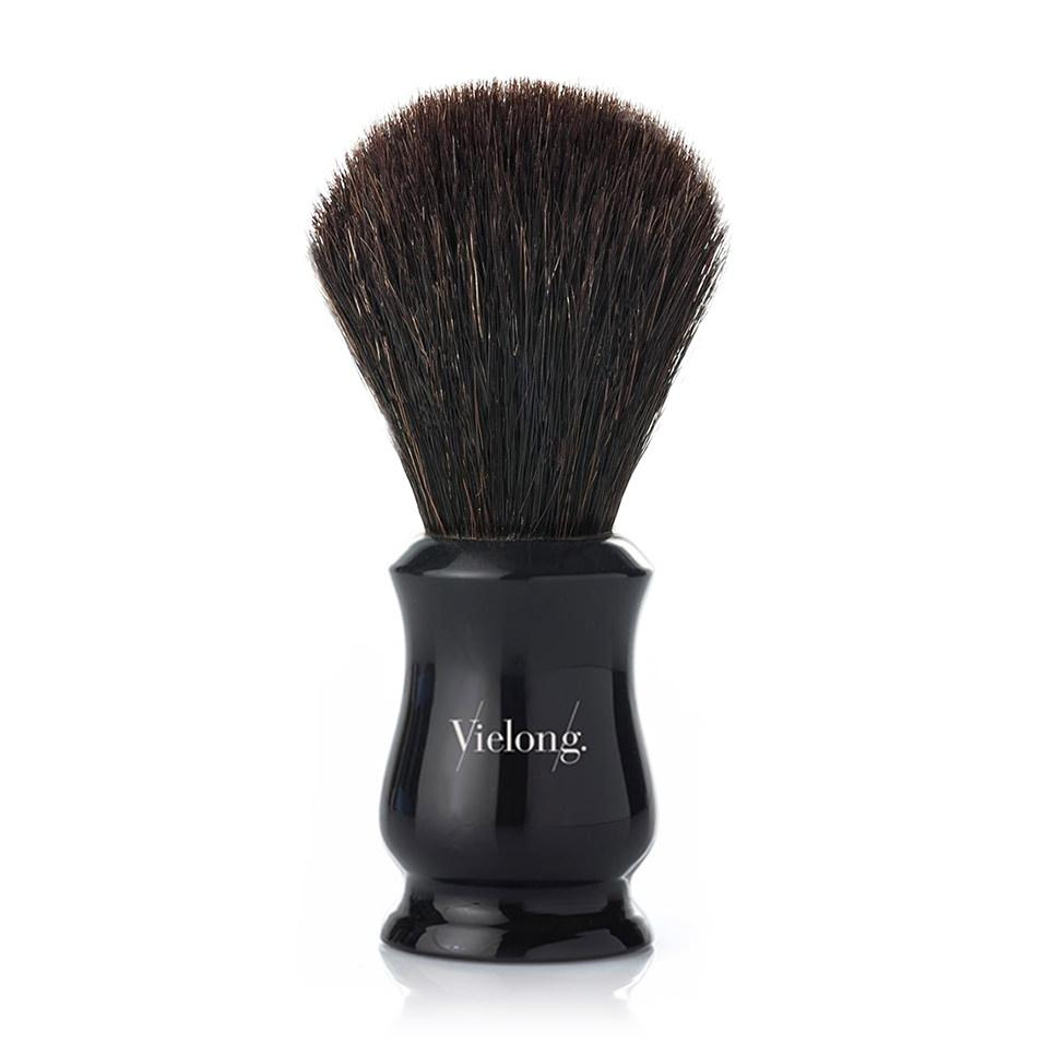 Vie-Long Tulip Black Horse Hair Shaving Brush Horse Bristles Shaving Brush Vie-Long Black