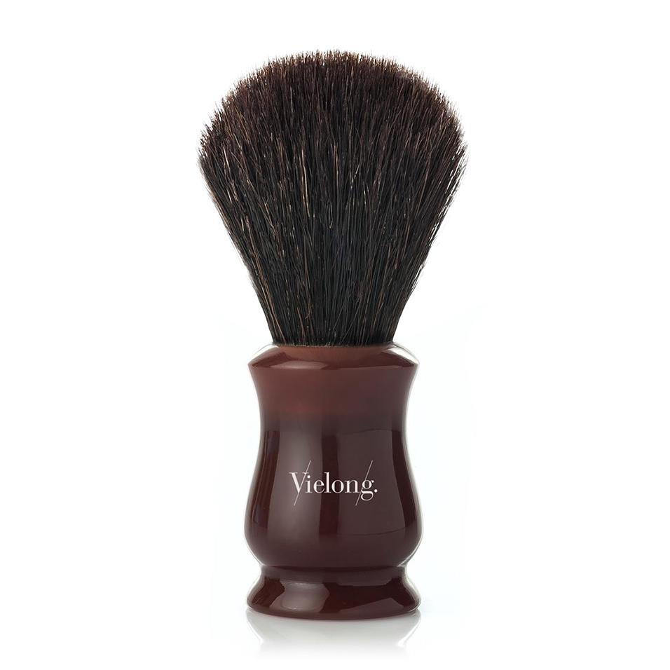 Vie-Long Tulip Black Horse Hair Shaving Brush Horse Bristles Shaving Brush Vie-Long Red