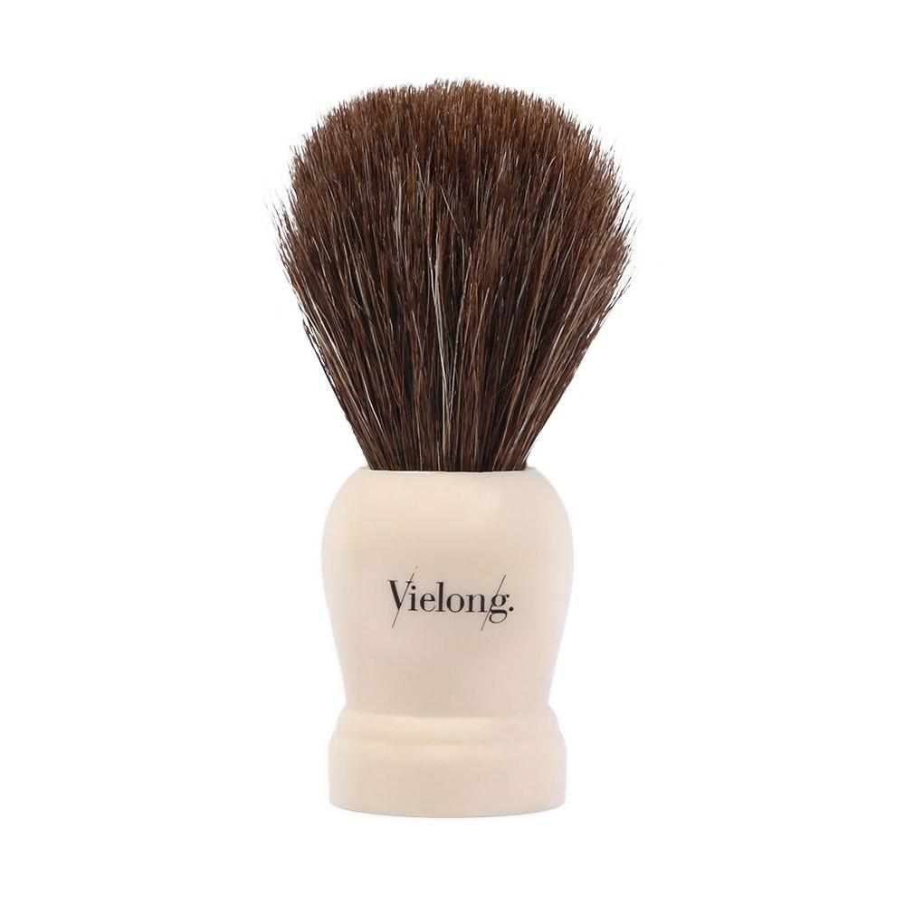 Vie-Long Horse Hair Shaving Brush, Cream Handle Horse Bristles Shaving Brush Vie-Long