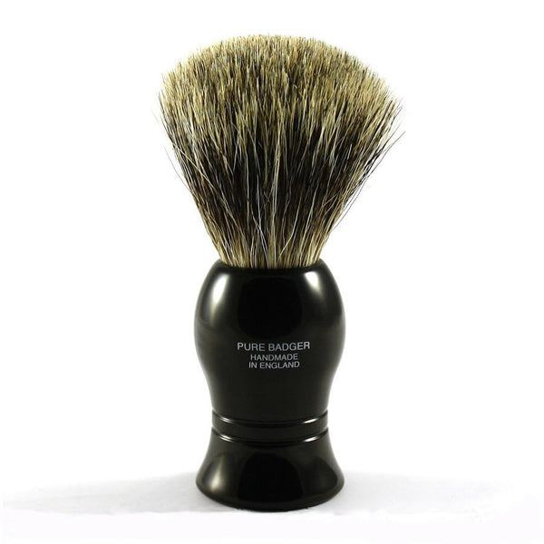 Vulfix Pure Grey Badger Shaving Brush, Black Handle - Fendrihan - 2
