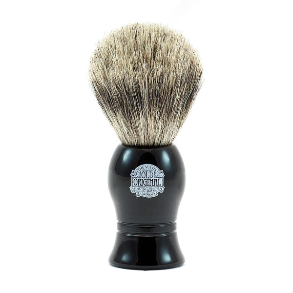Vulfix Pure Grey Badger Shaving Brush, Black Handle - Fendrihan - 1