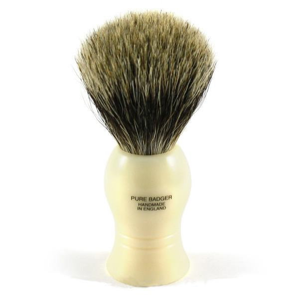 Vulfix Pure Grey Badger Shaving Brush & Stand, Faux Ivory - Fendrihan - 2