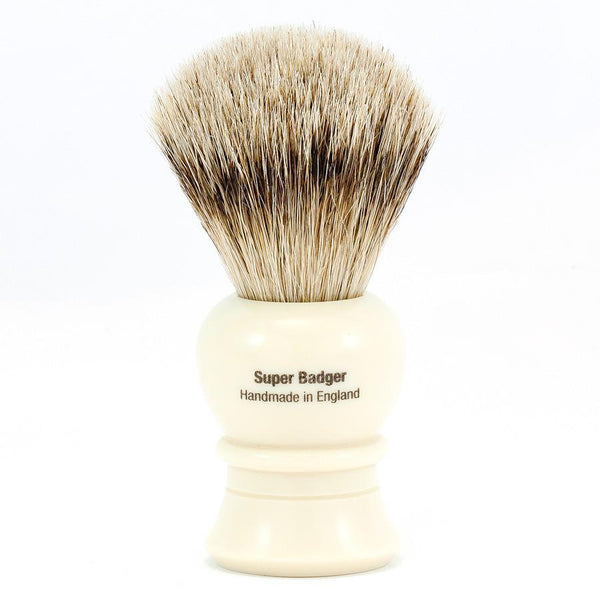Vulfix 2233 Super Badger Shaving Brush, Faux Ivory Handle - Fendrihan - 2