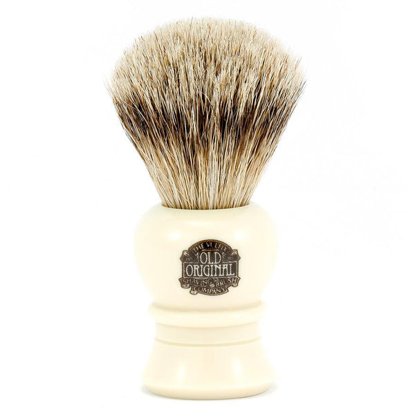 Vulfix 2233 Super Badger Shaving Brush, Faux Ivory Handle - Fendrihan - 1