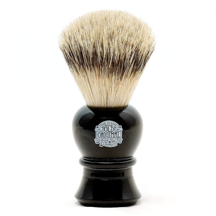 Vulfix 2234 Super Badger Shaving Brush, Black Handle Badger Bristles Shaving Brush Vulfix
