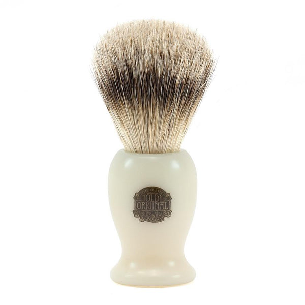 Vulfix 660S Medium Super Badger Shaving Brush & Stand, Faux Ivory - Fendrihan - 2