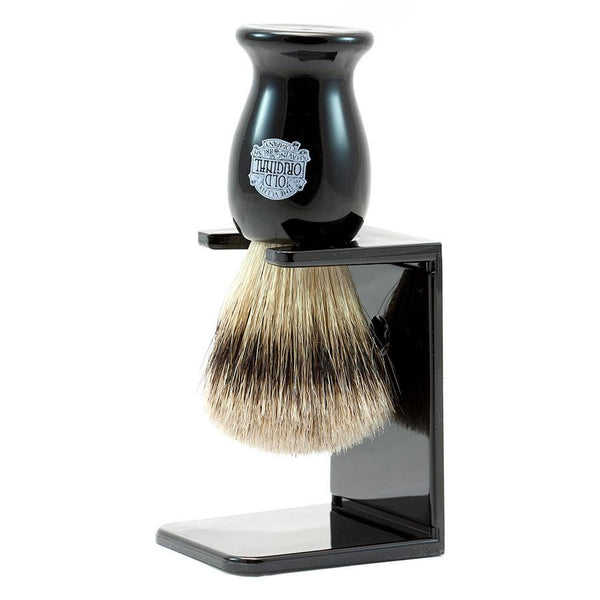 Vulfix 660S Medium Super Badger Shaving Brush & Stand, Black - Fendrihan - 1