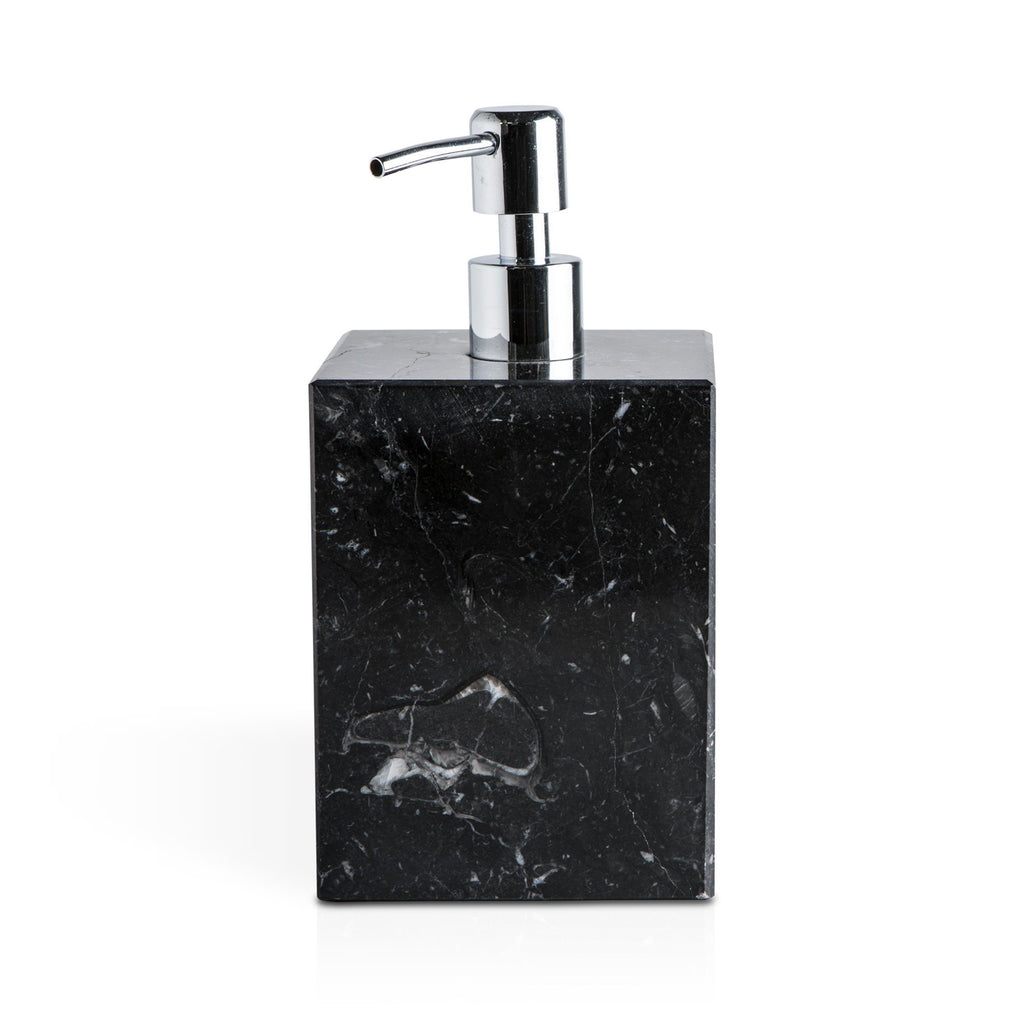 Fiammetta V Square Marble Soap Pump Dispenser Soap Dispenser Fiammetta V Black Marquina