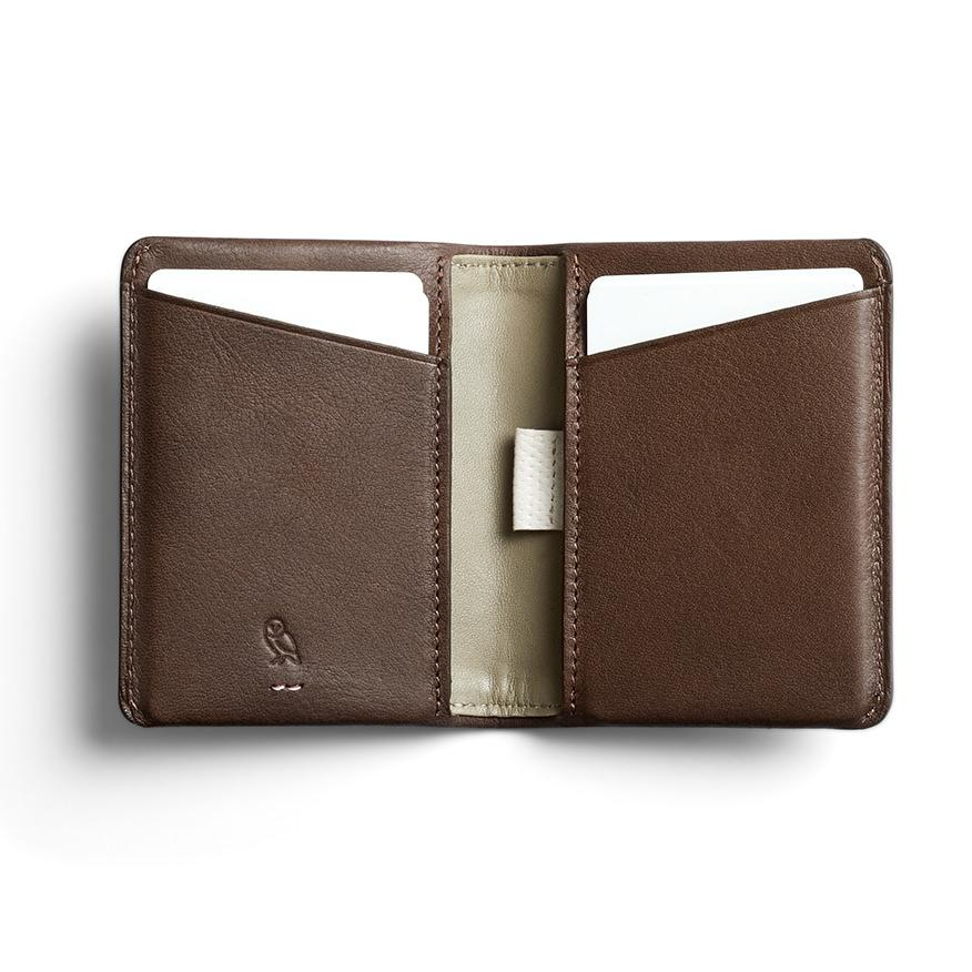 Bellroy Slim Sleeve Leather Wallet, Premium Edition Leather Wallet Bellroy Darkwood